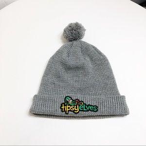 Tipsey Elves Gray Knit Cap
